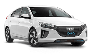 White Hyundai IONIQ Booths Motors