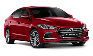 Red Hyundai Elantra Booths Motors