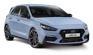 Light blue Hyundai i30 N Booths Motors