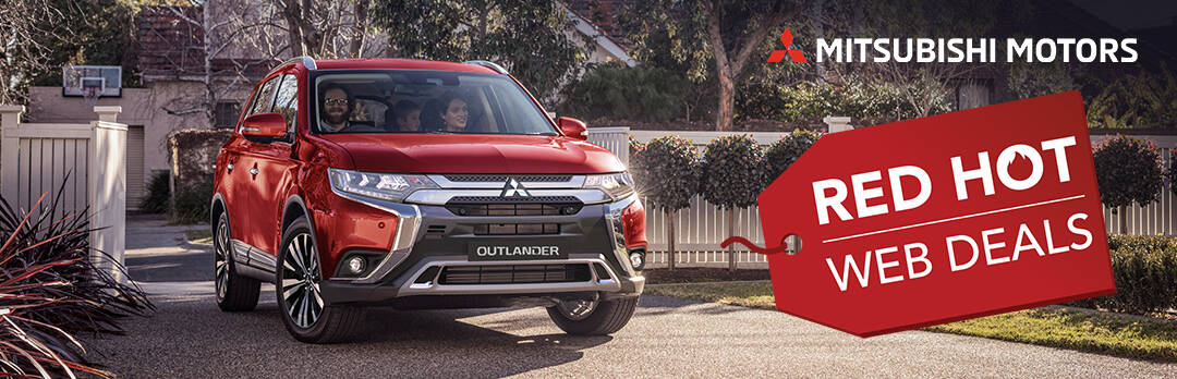 Red Mitsubishi Outlander Red Hot Web Deals