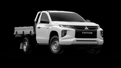 Mitsubuishi White Triton truck